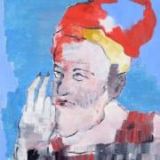 Porträt alter Mann mit Bart und Mütze