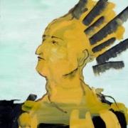 Porträt Mann mit Irokesen Frisur
