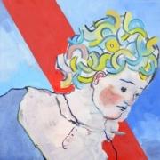 weibliches Porträt mit welligem Haar
