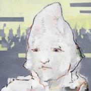 Porträt - weisses Gesicht ohne Haare