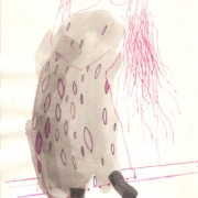 weibliche Figur mit langem Haar betet