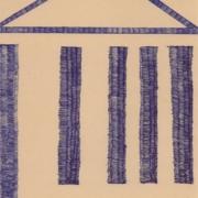 Kugelschreiberzeichnung, Schraffur, Tempel
